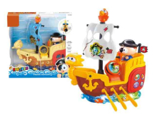 28784 - B/O bump&go boat (with light and sound)